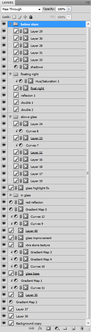 Layer stack - 39 layers and masks